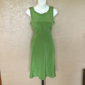 J. Crew Lime Green Silk Cocktail Party Dress 4P